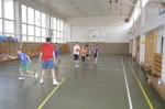 Basketbalový krouže v tělocvičně